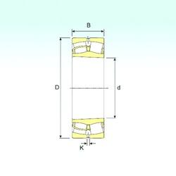 670 mm x 980 mm x 230 mm  ISB 230/670 K Rodamientos De Rodillos Esféricos