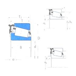 38,1 mm x 65,088 mm x 18,288 mm  Timken LM29748/LM29710-LM29700LA Rodamientos De Rodillos Cónicos
