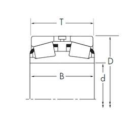 107,95 mm x 190,5 mm x 101,6 mm  Timken 71426D/71750 Rodamientos De Rodillos Cónicos
