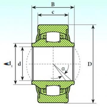30 mm x 66 mm x 37 mm  ISB GE 30 RB Rodamientos De Rodillos Esféricos