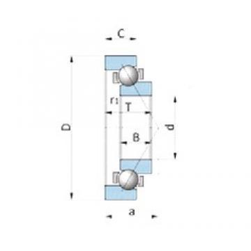 180 mm x 225 mm x 21,5 mm  NTN SF3607PX1 Cojinetes De Bola De Contacto Angular