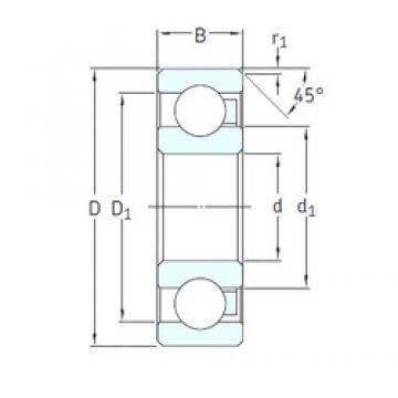 10 mm x 35 mm x 11 mm  SKF 6300/HR22T2 Cojinetes de bolas profundas