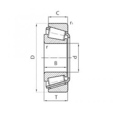 40 mm x 68 mm x 19 mm  Timken NP014119-99401 Rodamientos De Rodillos Cónicos