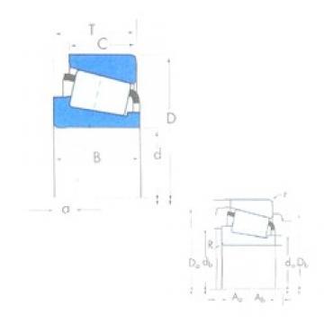 88,9 mm x 190,5 mm x 57,531 mm  Timken HH221434/HH221410 Rodamientos De Rodillos Cónicos