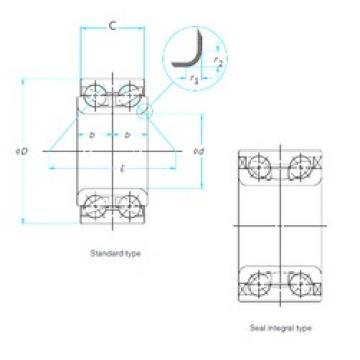 42 mm x 78 mm x 41 mm  NTN DE0829LLCS32PX1/5A Cojinetes De Bola De Contacto Angular
