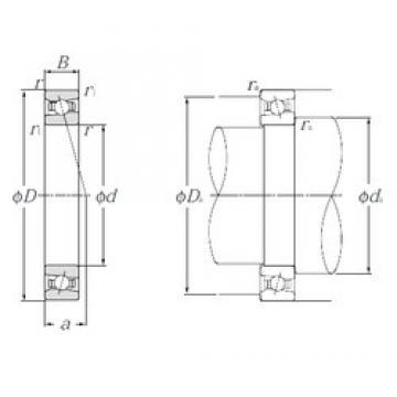 100 mm x 140 mm x 20 mm  NTN HSB920C Cojinetes De Bola De Contacto Angular