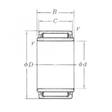 7 mm x 17 mm x 12 mm  NSK LM101712-1 Rodamientos De Agujas