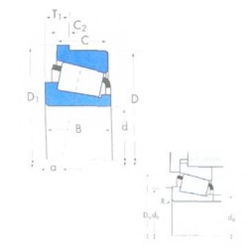 73,025 mm x 117,475 mm x 30,162 mm  Timken 33287/33462B Rodamientos De Rodillos Cónicos