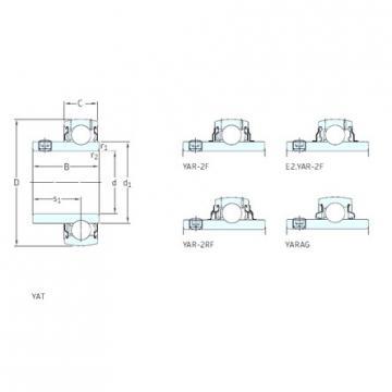 31.75 mm x 72 mm x 42,9 mm  SKF YAR207-104-2RF/VE495 Cojinetes de bolas profundas