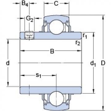 25.4 mm x 52 mm x 34.1 mm  SKF YAR 205-100-2FW/VA228 Cojinetes de bolas profundas