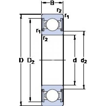35 mm x 80 mm x 21 mm  SKF W 6307-2RS1 Cojinetes de bolas profundas