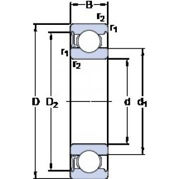 50 mm x 80 mm x 16 mm  SKF 6010-RZ Cojinetes de bolas profundas