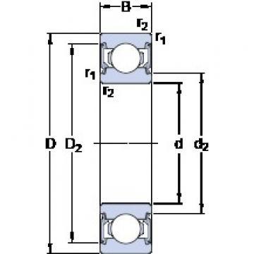 25 mm x 47 mm x 12 mm  SKF 6005-2RSLTN9/HC5C3WT Cojinetes de bolas profundas