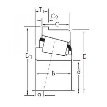 95,25 mm x 190,5 mm x 57,531 mm  Timken HH221440/HH221410-B Rodamientos De Rodillos Cónicos