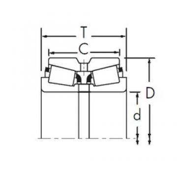 Timken HM136940/HM136916XD Rodamientos De Rodillos Cónicos