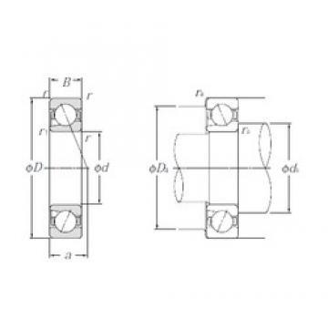 12 mm x 32 mm x 10 mm  NTN BNT201 Cojinetes De Bola De Contacto Angular
