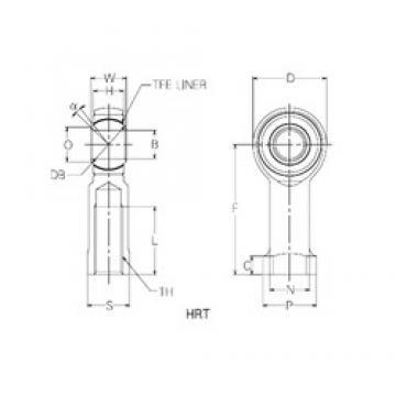 20 mm x 45 mm x 20 mm  NMB HRT20 Rodamientos Deslizantes