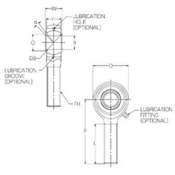 22 mm x 52 mm x 22 mm  NMB HR22E Rodamientos Deslizantes