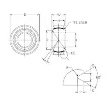 22 mm x 40 mm x 22 mm  NMB MBT22V Rodamientos Deslizantes