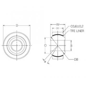 12 mm x 30 mm x 12 mm  NMB SBT12 Rodamientos Deslizantes