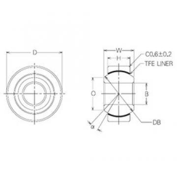 14 mm x 34 mm x 14 mm  NMB SBT14 Rodamientos Deslizantes