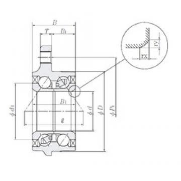 43 mm x 83 mm x 42,5 mm  NTN HUB081-45 Cojinetes De Bola De Contacto Angular