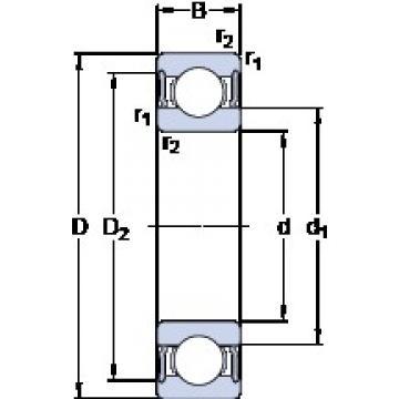 20 mm x 42 mm x 16 mm  SKF 63004-2RS1 Cojinetes de bolas profundas