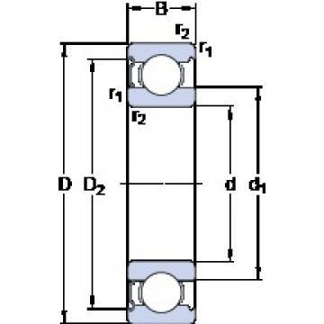 60 mm x 95 mm x 18 mm  SKF 6012-Z Cojinetes de bolas profundas