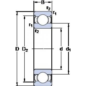 6 mm x 19 mm x 6 mm  SKF E2.626-2Z Cojinetes de bolas profundas
