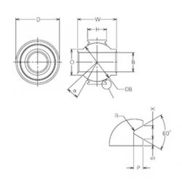 18 mm x 38 mm x 18 mm  NMB MBY18VCR Rodamientos Deslizantes