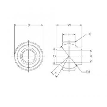 16 mm x 35 mm x 16 mm  NMB MBY16CR Rodamientos Deslizantes