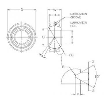 14 mm x 27,5 mm x 14 mm  NMB MBG14VCR Rodamientos Deslizantes