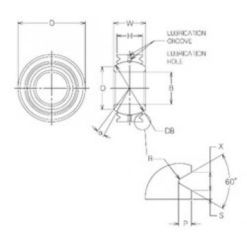 8 mm x 19 mm x 8 mm  NMB MBG8VCR Rodamientos Deslizantes