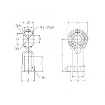 20 mm x 46 mm x 20 mm  NMB RBT20 Rodamientos Deslizantes