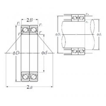 80 mm x 125 mm x 20,25 mm  NTN HTA016DB Cojinetes De Bola De Contacto Angular
