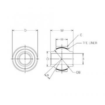 22 mm x 44 mm x 22 mm  NMB MBYT22 Rodamientos Deslizantes