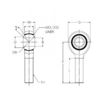 20 mm x 46 mm x 20 mm  NMB RBM20E Rodamientos Deslizantes