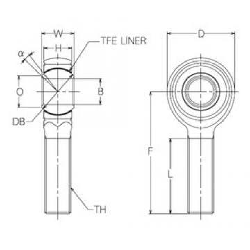 28 mm x 75 mm x 28 mm  NMB HRT28E Rodamientos Deslizantes