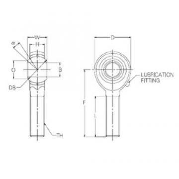 16 mm x 38 mm x 16 mm  NMB PR16E Rodamientos Deslizantes