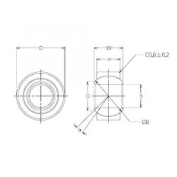 20 mm x 35 mm x 20 mm  NMB MBW20CR Rodamientos Deslizantes