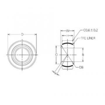 14 mm x 27,5 mm x 14 mm  NMB MBT14 Rodamientos Deslizantes