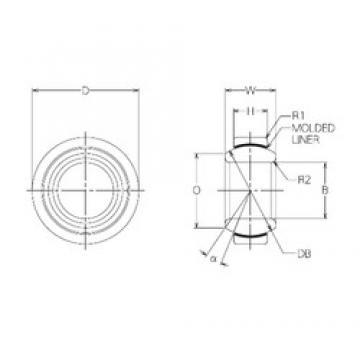 10 mm x 19 mm x 9 mm  NMB BM10 Rodamientos Deslizantes