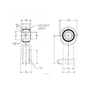 22 mm x 50 mm x 22 mm  NMB RBM22 Rodamientos Deslizantes