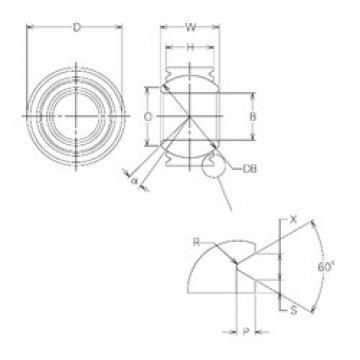 28 mm x 60 mm x 28 mm  NMB MBW28VCR Rodamientos Deslizantes