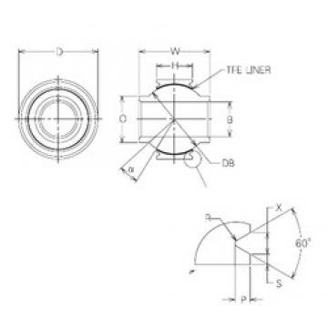 22 mm x 44 mm x 22 mm  NMB MBYT22V Rodamientos Deslizantes