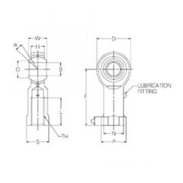 14 mm x 34 mm x 14 mm  NMB PR14 Rodamientos Deslizantes