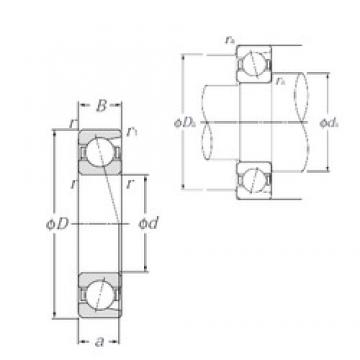 80 mm x 125 mm x 22 mm  NTN 7016C Cojinetes De Bola De Contacto Angular