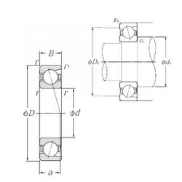 85 mm x 130 mm x 22 mm  NTN 7017C Cojinetes De Bola De Contacto Angular